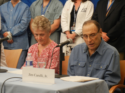 New England's first artificial heart recipient Jim Carelli, Jr.