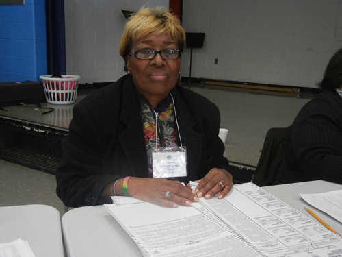 Voter registration volunteer